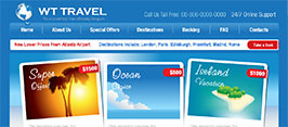 Travel website using hello bars for promotional offers for existing customers