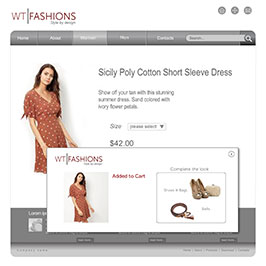 Retail website using onsite retargeting to stimulate additional purchases with free delivery messages