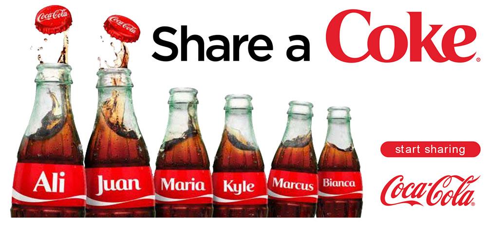 Coca-Cola Share a coke campaign