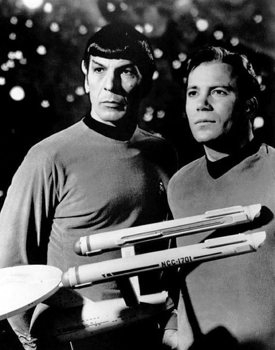 Spock (Leonard Nimoy) and Kirk (William Shatner)