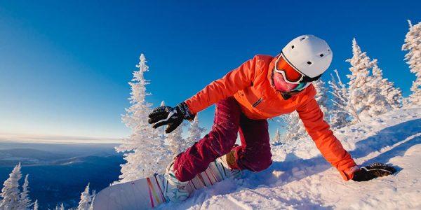 Snowboarder on a VIP SKI holiday